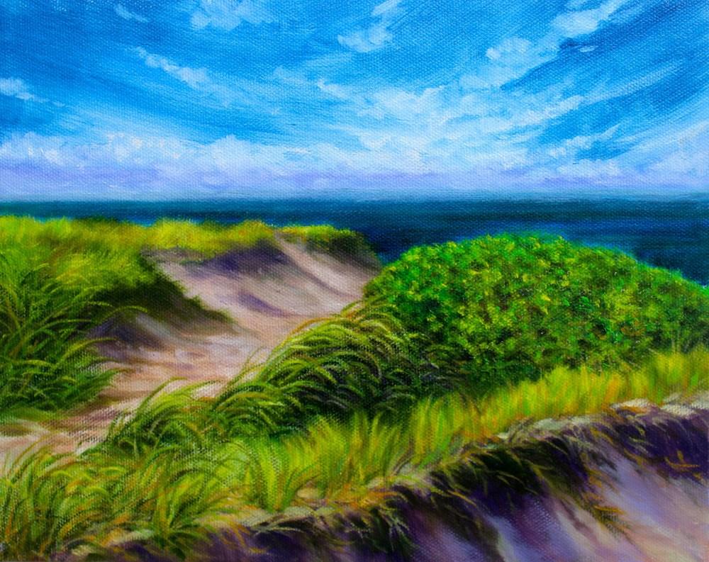 """""""Wellfleet"""" original fine art by Jill Bates"""