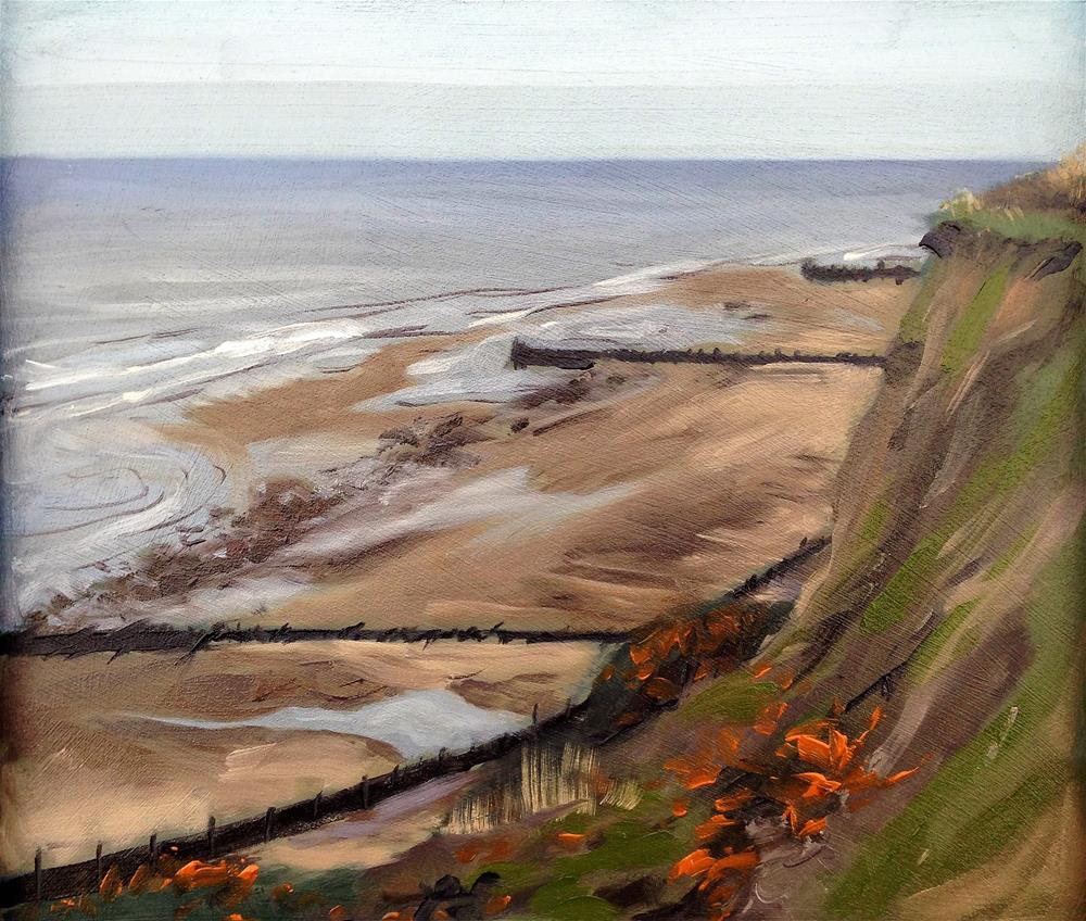 """Overstrand Cliffs #1"" original fine art by Tanya Pawsey"