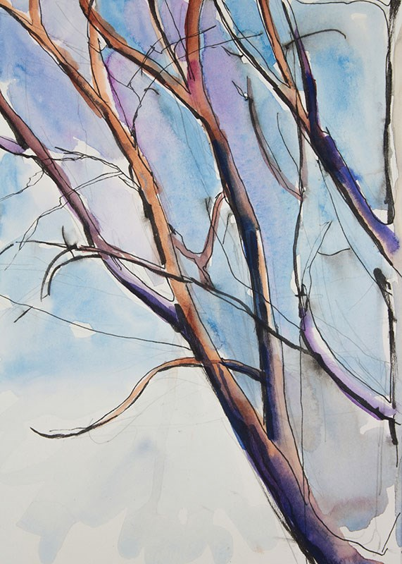 """Tree Study"" original fine art by Chris Breier"