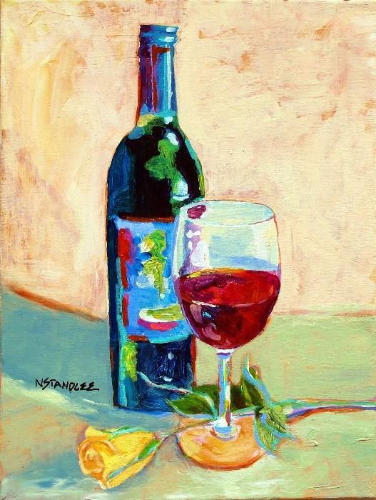 Wine and Dine 12058 original fine art by Nancy Standlee