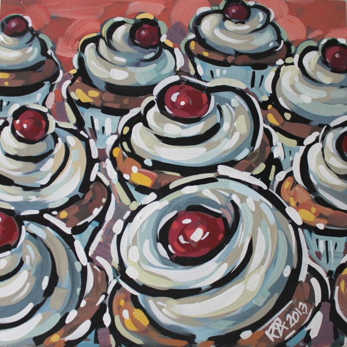 """Cupcake 18"" original fine art by Roger Akesson"