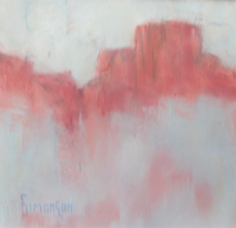 """Distant Buttes"" original fine art by Bev Simonson"