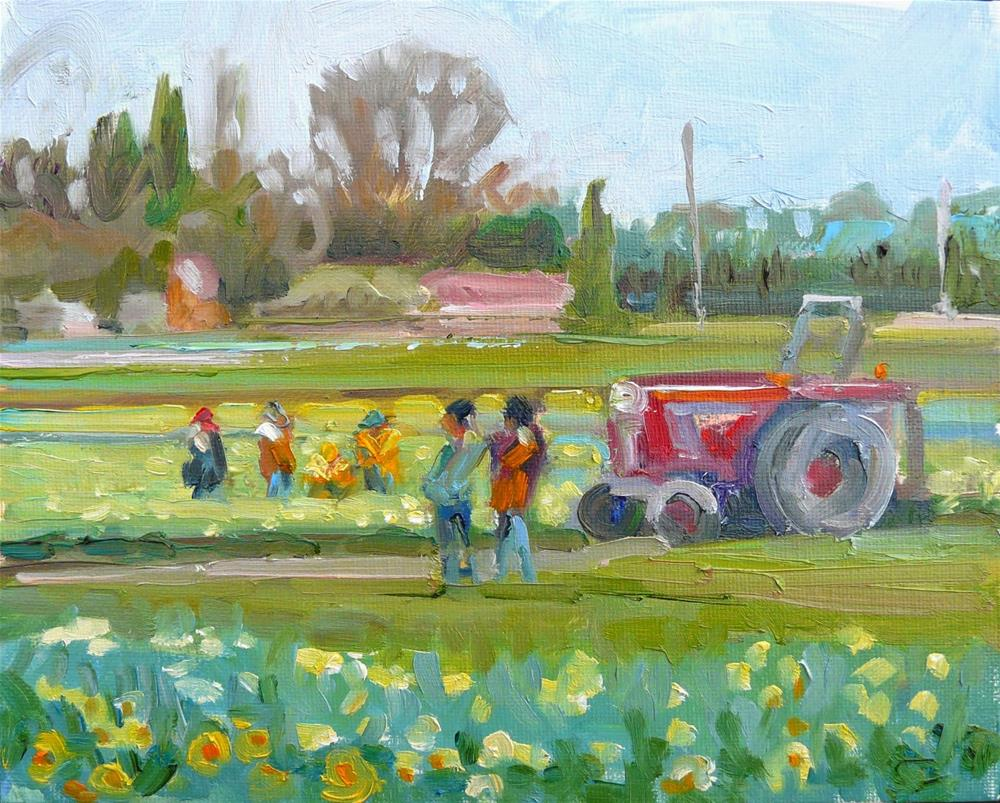 """Spring Labor Brings Forth,Landscape,oil on canvas,8x10,$300"" original fine art by Joy Olney"