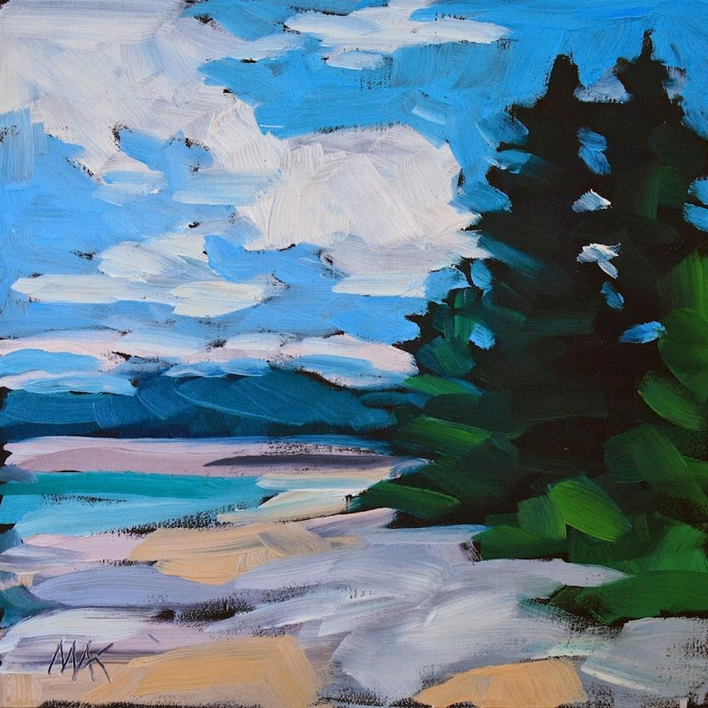 """Beach, Trees, Sky"" original fine art by Mary Anne Cary"