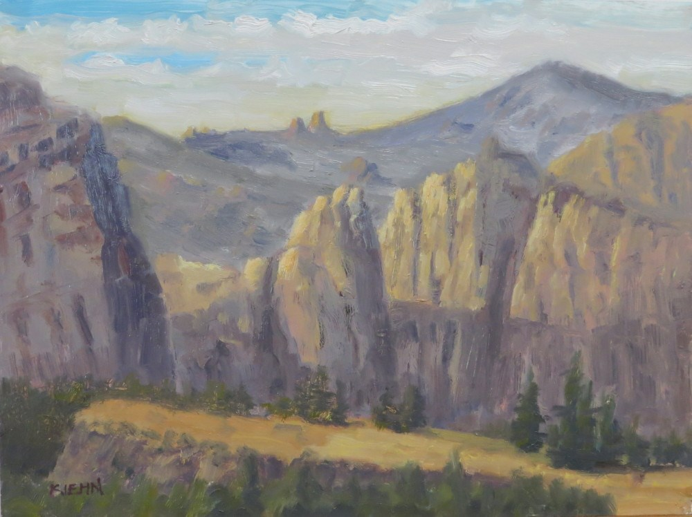 """Smith Rock at Dusk"" original fine art by Richard Kiehn"