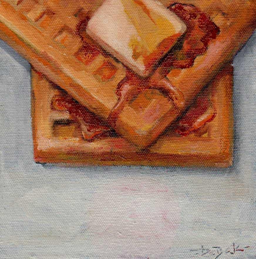 """""""morning waffles"""" original fine art by Vova DeBak"""