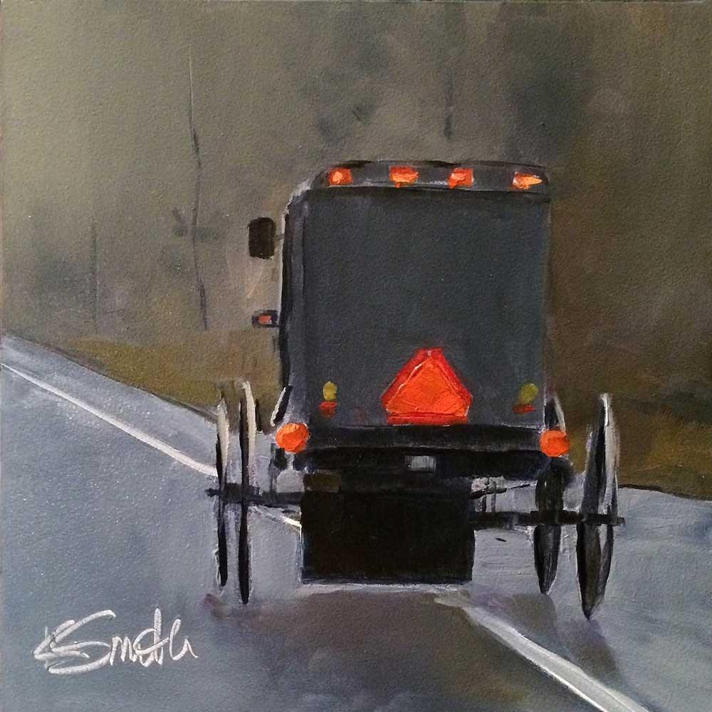 """headed home"" original fine art by Kim Smith"