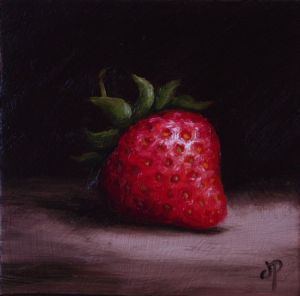 """Little Strawberry #3"" original fine art by Jane Palmer"