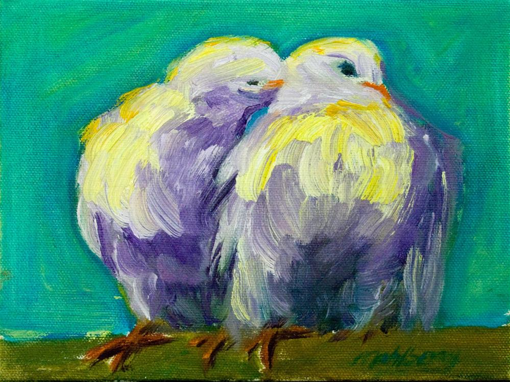 """A Peck on the Neck"" original fine art by Cynthia Mahlberg"