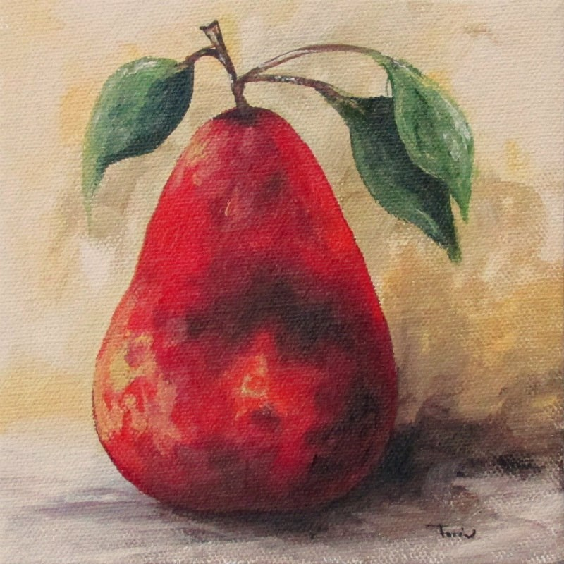 """The Red Pear III"" original fine art by Torrie Smiley"