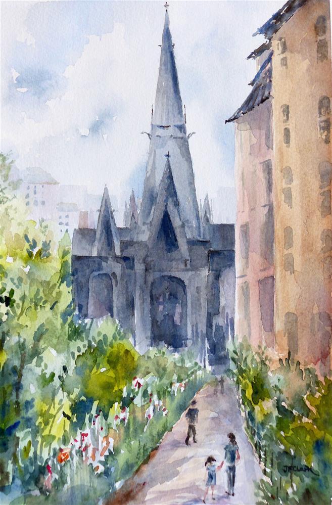 """""""Vondelkerk, Amsterdam"""" original fine art by Judith Freeman Clark"""