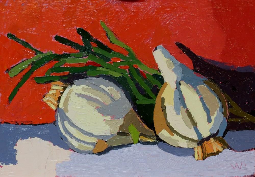 """Rosemary and Garlic"" original fine art by Joan Wiberg"