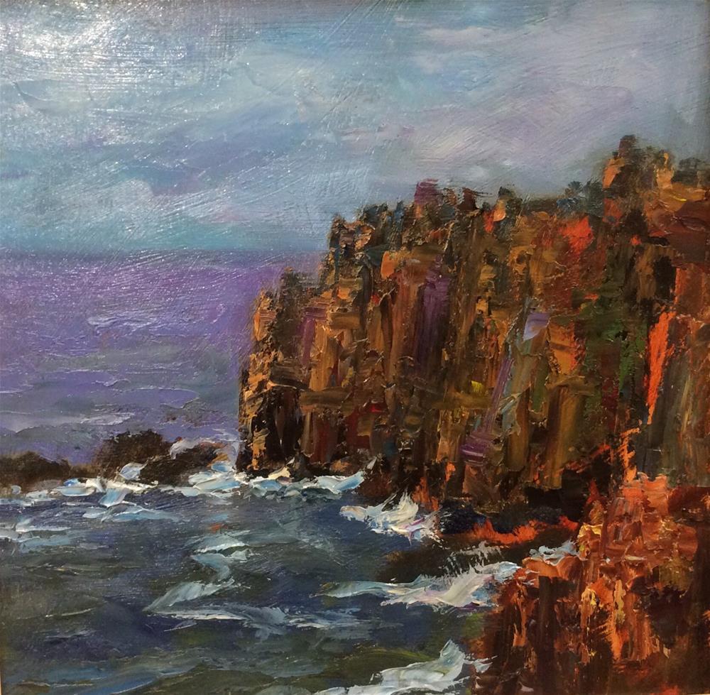 """Cornish Cliffs"" original fine art by John Shave"