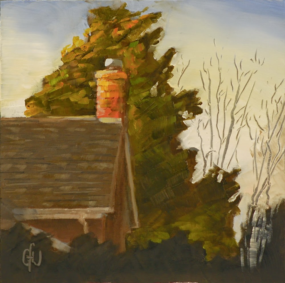 """Roof At Sunset"" original fine art by Gary Westlake"
