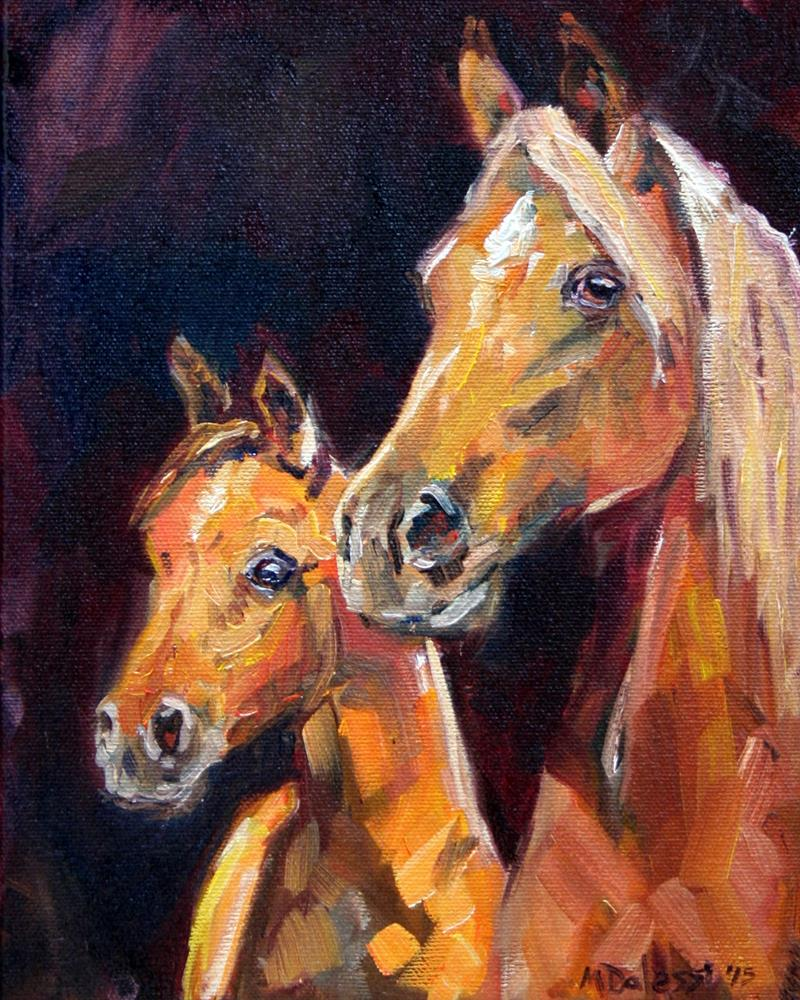 """With mum"" original fine art by Miranda Dalessi"