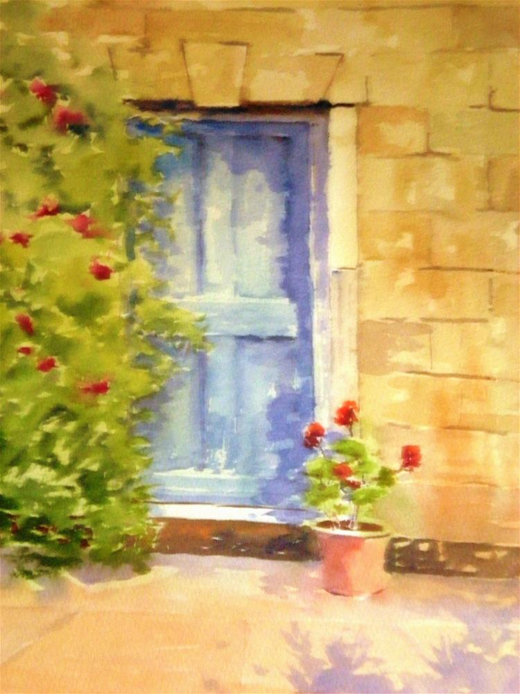 """Blue Door"" original fine art by Graham Findlay"