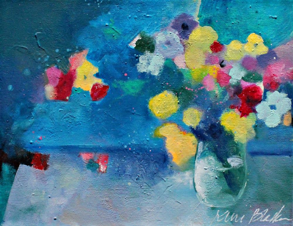 """Flowers in a Blue Room "" original fine art by Kerri Blackman"