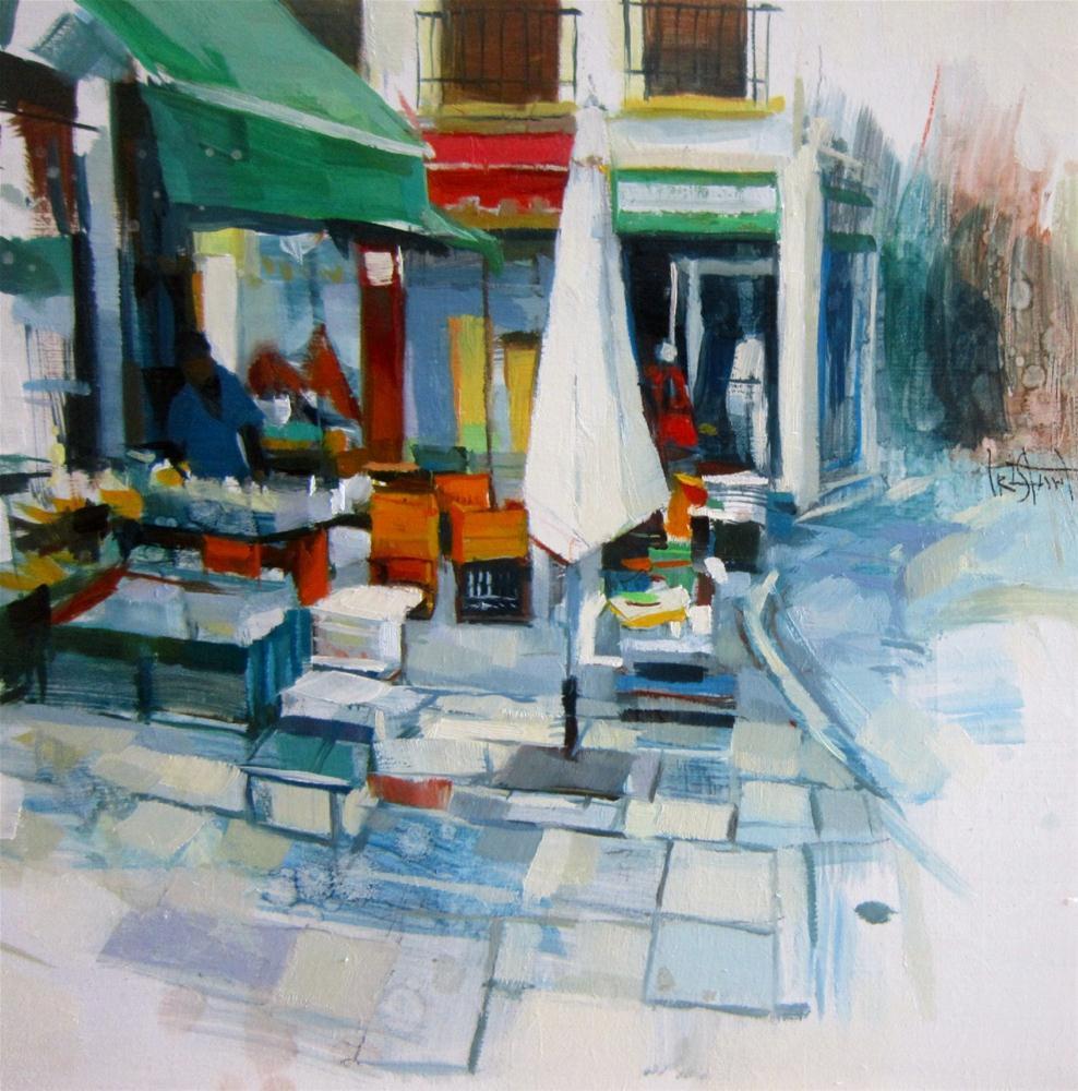 """Street market"" original fine art by Víctor Tristante"