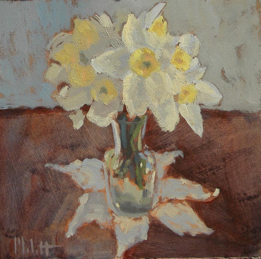 Spring Bouquet Oil Painting Still Life Floral Daffodils Art original fine art by Heidi Malott