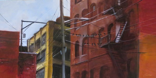 """Primati Bros Alley"" original fine art by Beth Bathe"