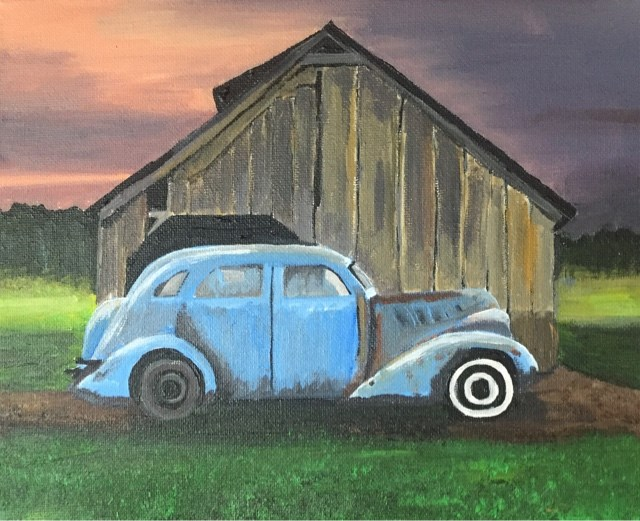 """Parked Car"" original fine art by Helen Kuhn"