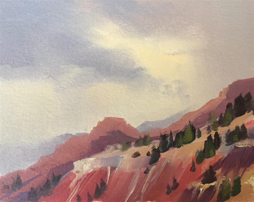 """Storms Over Cedar Breaks 3"" original fine art by Mary Jabens"