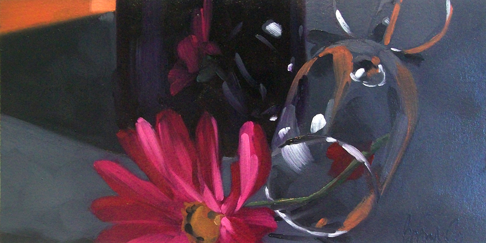 """wino daisy3"" original fine art by Brandi Bowman"