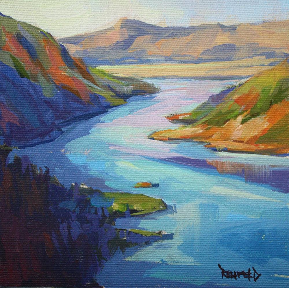 """Columbia River"" original fine art by Cathleen Rehfeld"