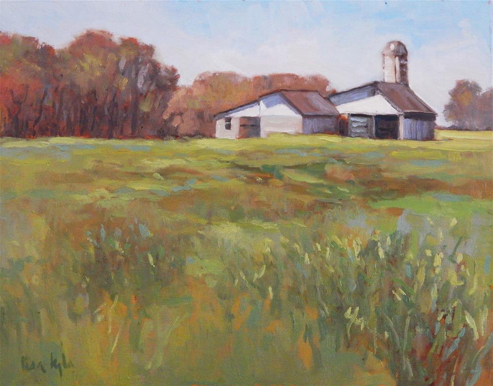 """Spring Greens"" original fine art by Lisa Kyle"