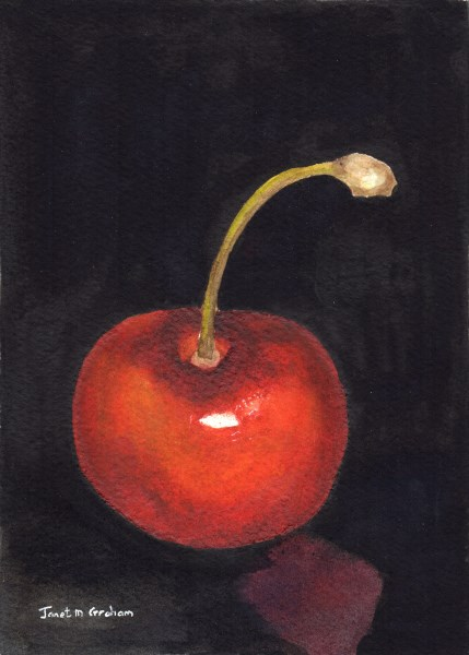 """Cherry"" original fine art by Janet Graham"