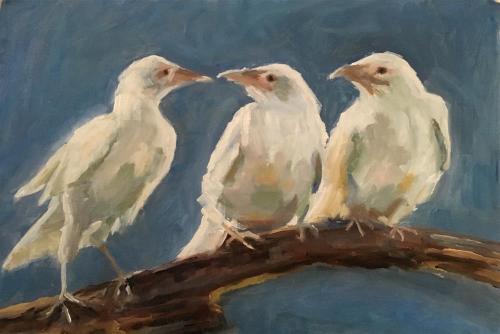 """""""Tweet Chatter"""" original fine art by Wanda Lowery"""