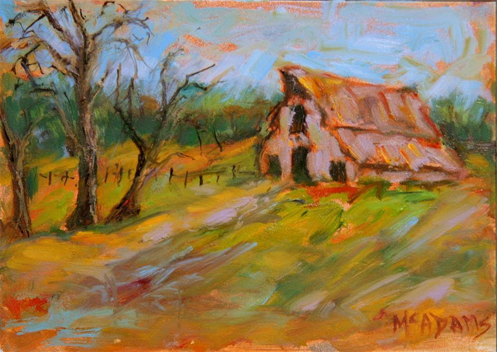 """The Barn"" original fine art by Phyllis McAdams"