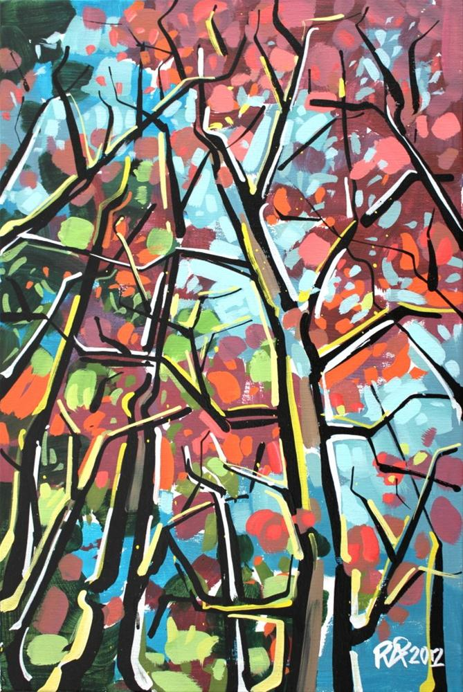 """Tree abstraction 1"" original fine art by Roger Akesson"