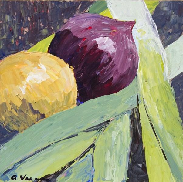 """""""Alliums"""" original fine art by Anna Vreman"""