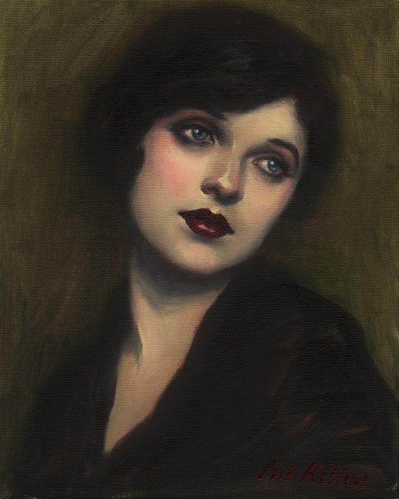 """""""Portrait of a 1920s Girl"""" original fine art by Pat Kelley"""
