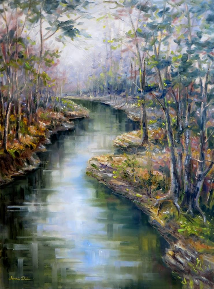 """Whispering Water"" original fine art by Tammie Dickerson"