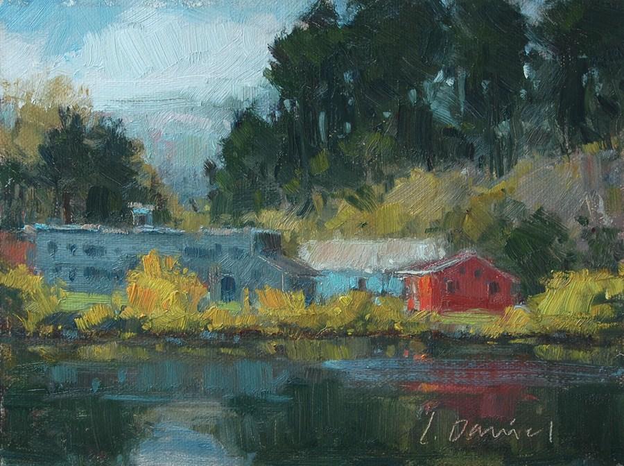 """""""River Secrets - Auction for Hurricane Sandy Victims"""" original fine art by Laurel Daniel"""