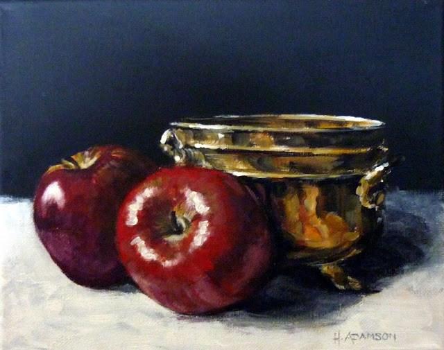 """Crisp"" original fine art by Helene Adamson"