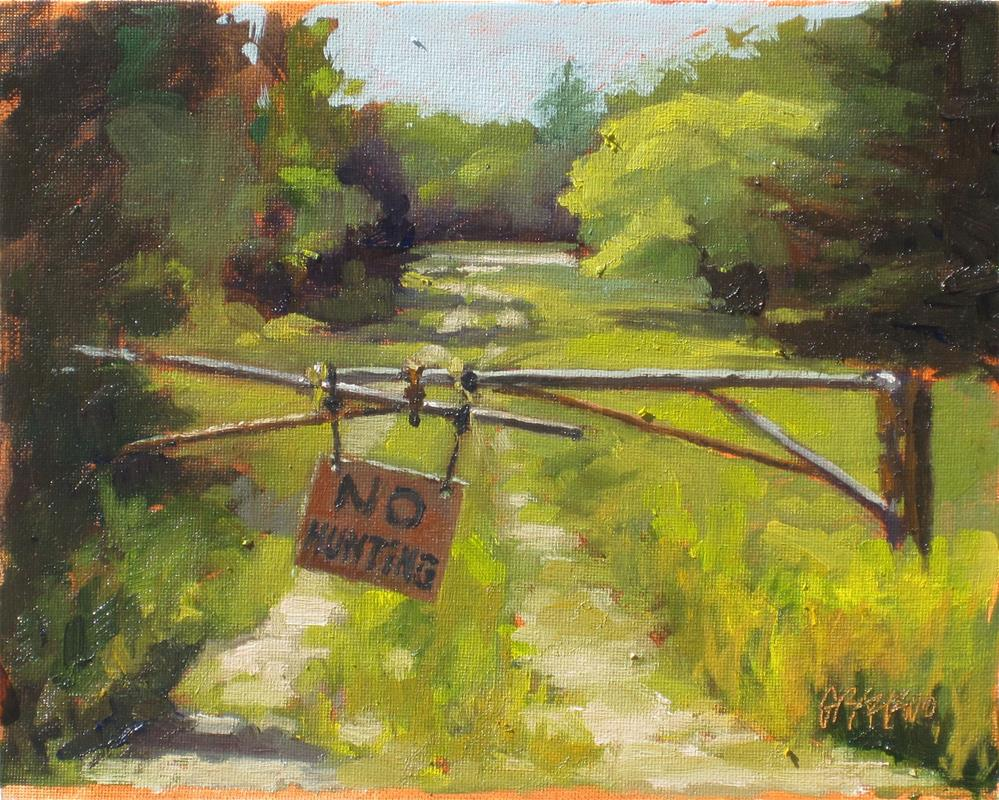 """no hunting"" original fine art by Dan Graziano"