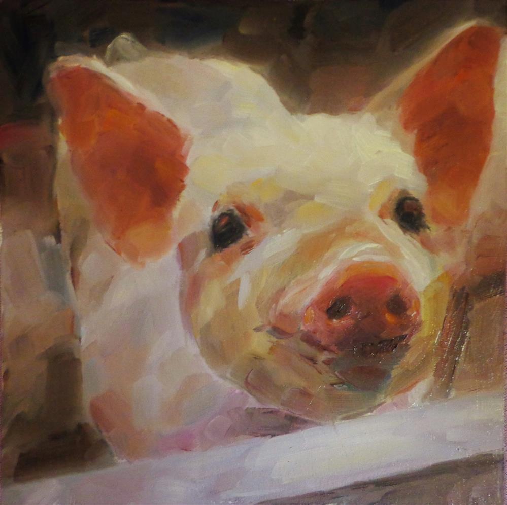"""""""Little pig"""" original fine art by Maria Z."""