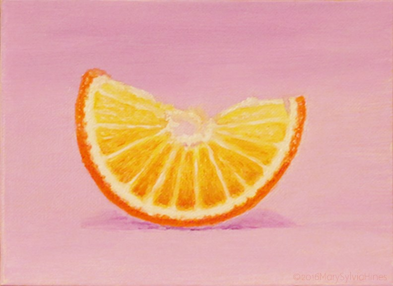 """Orange 1"" original fine art by Mary Sylvia Hines"