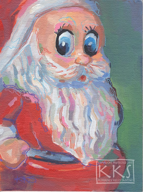 """HoHoHo II"" original fine art by Kimberly Santini"