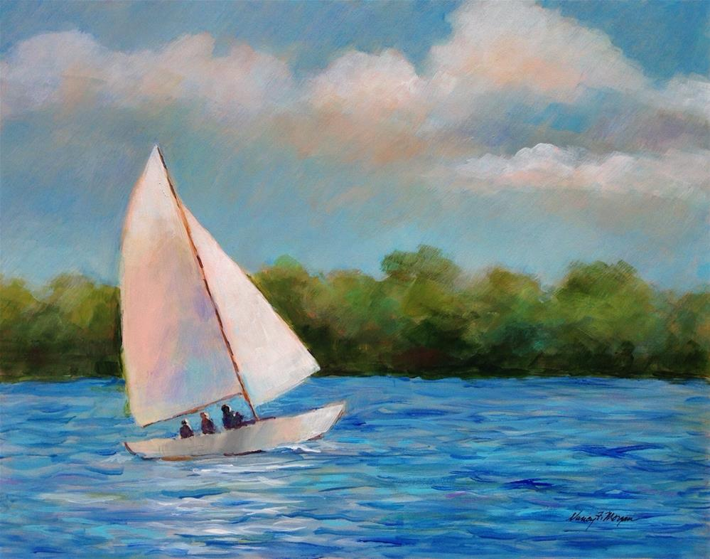 """Sailing"" original fine art by Nancy F. Morgan"
