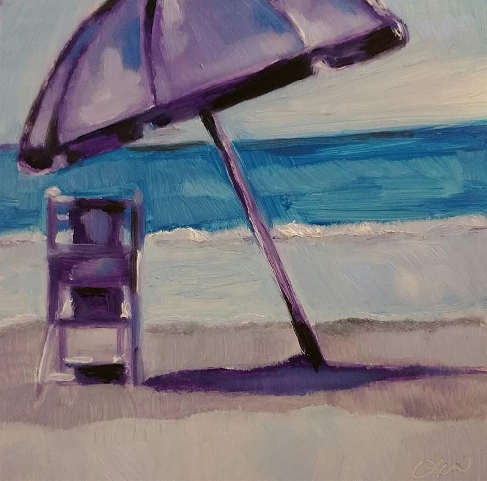"""Beach Time"" original fine art by Leni Tarleton"