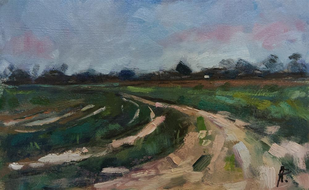 """Farm Track in West Sussex"" original fine art by Andre Pallat"