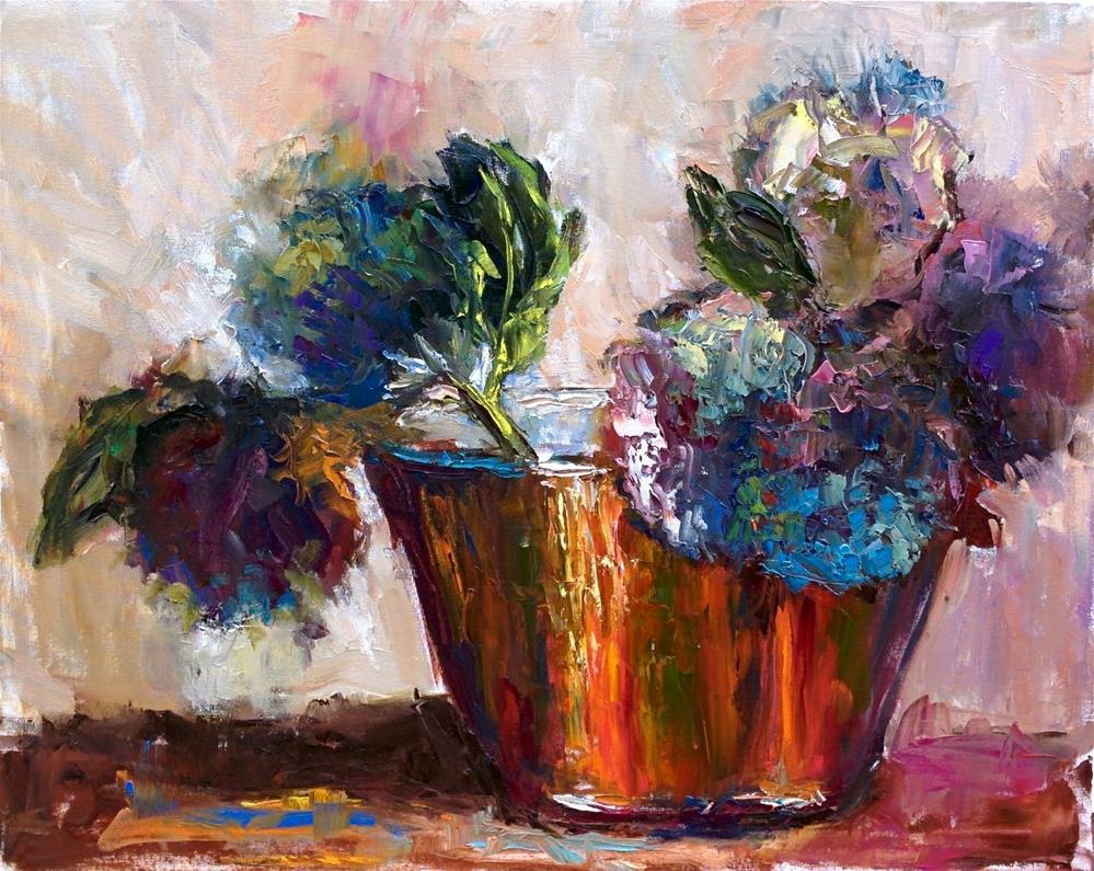 """Purple Hydrengea "" original fine art by pepa sand"