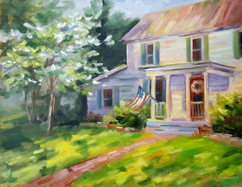 """Old Glory on Lower Street"" original fine art by Tammie Dickerson"
