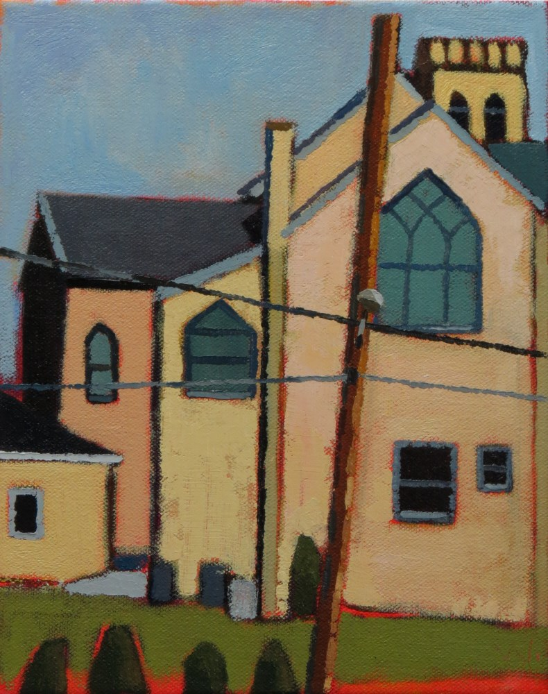 """Behind St. James"" original fine art by Joan Wiberg"