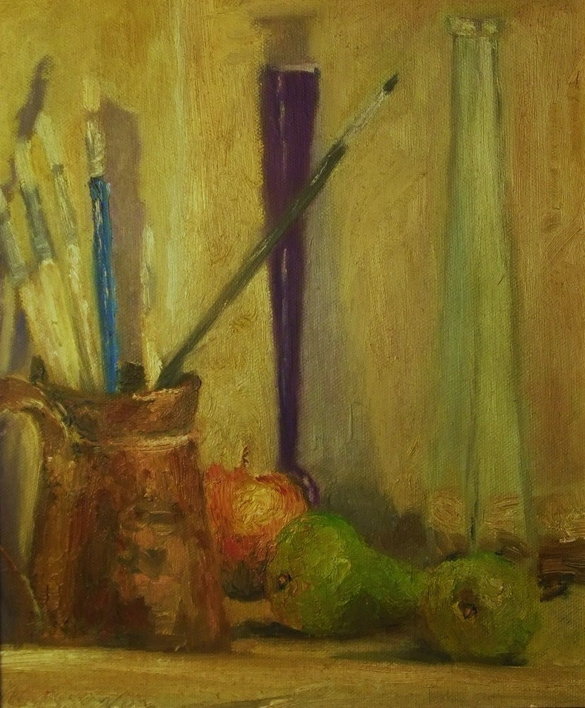 """Vessels and fruit"" original fine art by Michael Sason"