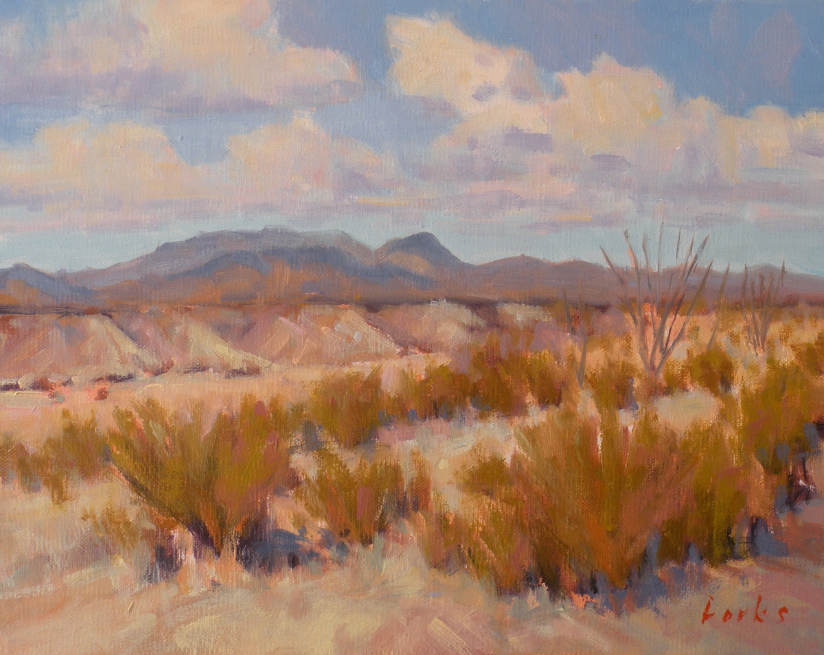"""Badlands"" original fine art by David Forks"